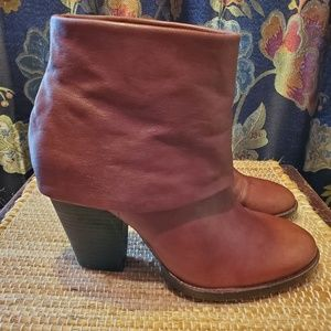 Vince Camuto leather fold-over booties EUC sz 7B